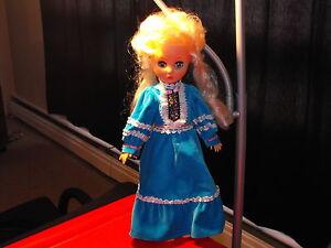 Vintage-Playmates-14-034-Blonde-Doll-with-Dress-Manufacturer-7150
