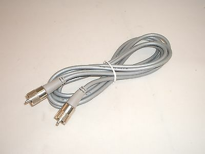 Workman 8x-9-pl-pl-gry 9ft Rg-8x Antenna Coax Patch Cable Gray W/ Molded Pl-259s