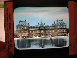 Antique-30s-40s-Magic-Lantern-Glass-Slide-Luxenbourg-Palace