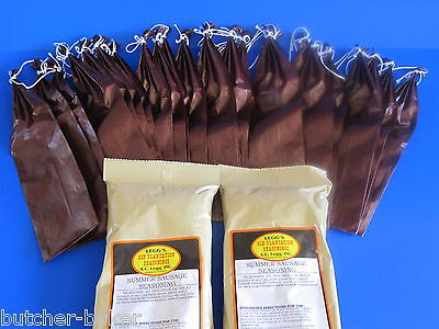 Summer Sausage Kit Seasoning And Casings For 50 Lbs W/ Long 2 Lb Sleeves