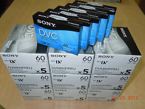 Sony-Premium-Mini-DV-Minidv-Camcorder-video-60min-Tape-DVM60PRR-50-pack