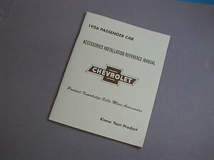 1956-Chevy-Accessory-Installation-Manual-56-NEW-Guide