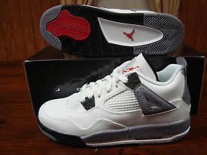 408452-103-DS-Air-Jordan-4-Retro-white-cement-grey-sz-4-5Y-4-5-Y-Youth-Boys-iv