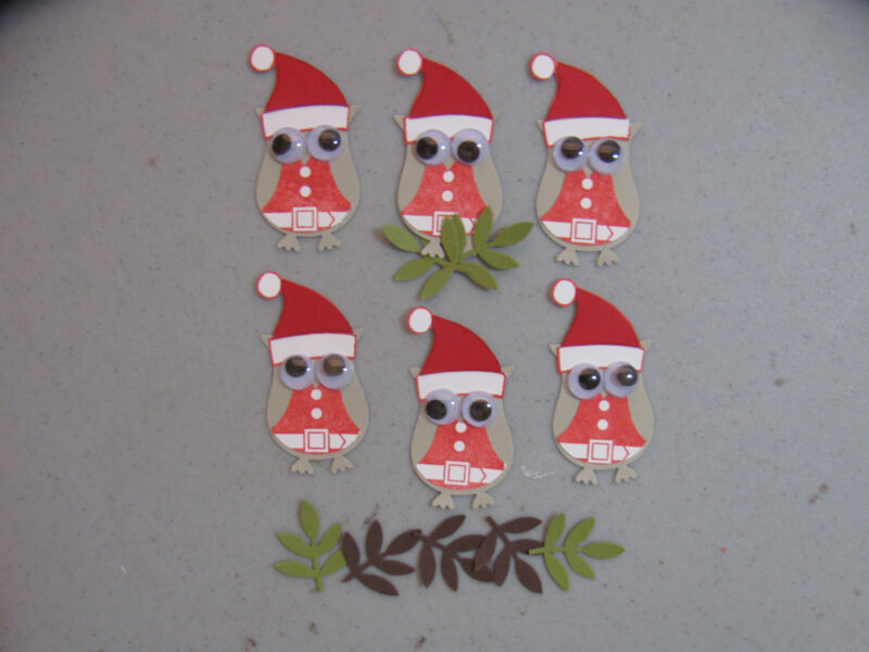 Stampin' Up Christmas Santa Owls &  Branch Punches Set of 6