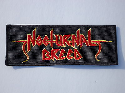 NOCTURNAL BREED EMBROIDERED RED LOGO BLACK TRASH METAL PATCH
