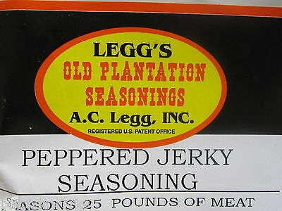 Jerky Seasoning ...... For 50 Lbs Venison Deer Meat ..... Black Pepper Flavor