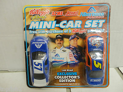 Kelloggs Albertsons Racing Mini Car Set  2001 Collectors Edition New Rare