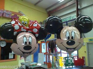 "Mickey & Minnie Mouse 34"" HELIUM FOIL BALLOON SUPERSHAPE ANAGRAM"