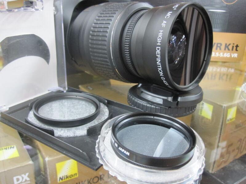 Wide Angle Macro Lens for Nikon d5100 d5000 d60 d40 d3100 d3200 d3000 w18-55 tup