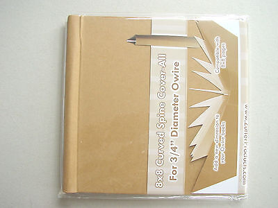 "Zutter Cover All 8x8"" Curved Spine Natur Für 34"" Bind-it-all Spiralbindung 0"