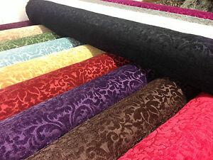 Heavyweight-Quality-Printed-Chenille-Velvet-Curtain-Fabric-Jacquard-Upholstery