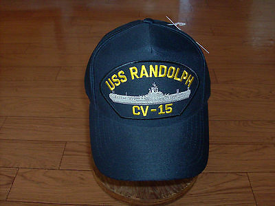 USS RANDOLPH CV-15 U.S NAVY SHIP HAT U.S MILITARY OFFICIAL BALL CAP U.S.A MADE