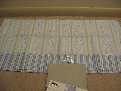 Kidsline Classic Cottage Toy Window Valance Blue Green White Boat Car Stars Nip