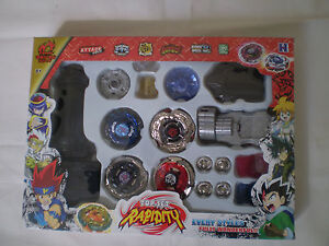 **ON-SALE** New Beyblade 4D Top Rapidity Metal Fusion Fight Master Set US Seller