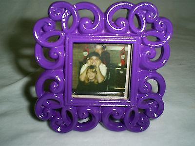 3 Tall X 3 Wide Neon Purple Mini Photo Frame-photo Size Is 1.6 X 1.6