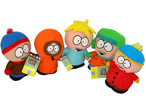 SOUTH PARK Cartman Butters Kyle Stan Kenny Plush Doll Figure Set 5 pc Toy NEW