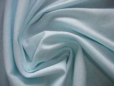 0,5 Laufmeter Bündchenstoff 3,20€/m² Baumwolle Lycra hellblau