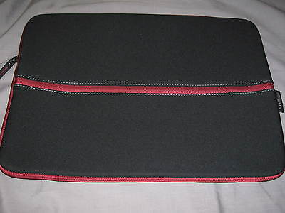 Targus Netbook Sleeve 16.5x12 Neoprene Laptop Ipad Protect Case Black Red
