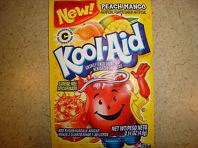 30 Kool Aid Drink Mix PEACH MANGO Summer Party flavor popsicle taste Vitamin C