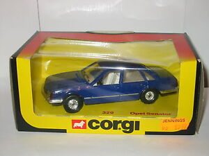 Corgi-No-329-Opel-Senator-Saloon-DARK-BLUE-Scarce-Boxed