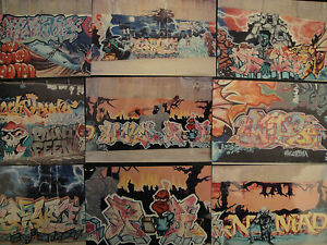 100 NYC NEW YORK SUBWAY TRAINS WALLS GRAFFITI GRAFITTI KRYLON PHOTOS PICTURES