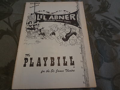 1957 Lil Abner Broadway Theater NYC Playbill Program