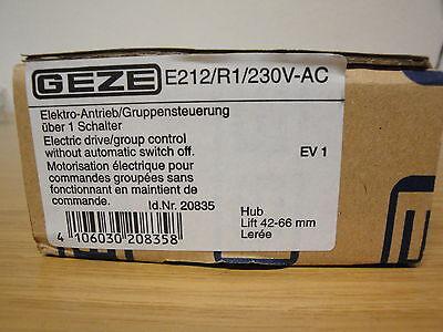 GEZE Antrieb E 212 R1  230 Volt silber