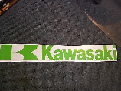 Green Kawasaki Decal Height: 5 In. Length: 38 Inches