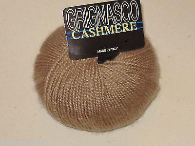 Grignasco 100% Fine Italian Cashmere Yarn Soft Mushroom Singles