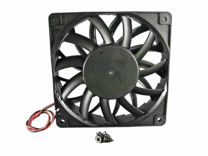 120mm 25mm New Case Fan 12V 148 CFM Ball Brg Waterproof to IP55 4 Screws 325*