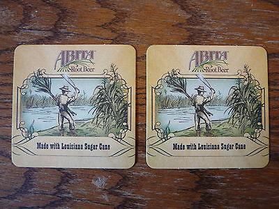 2 Beer Coasters ~ ABITA Brewery ~ Root Beer ~ Made With Louisiana Sugar Cane ~