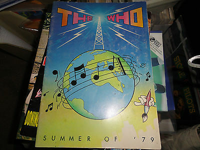 THE WHO      TOUR PROGRAM         Summer of `79