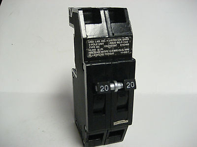 Zinsco 2 Pole Unit Type Qc  20 Amp Breaker Qc-20 .. G-37a