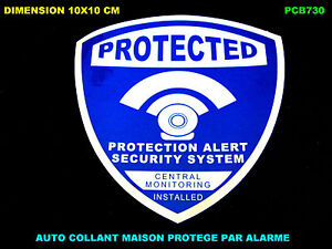 alarme maison camera protection video surveillance auto collant stickers ebay. Black Bedroom Furniture Sets. Home Design Ideas