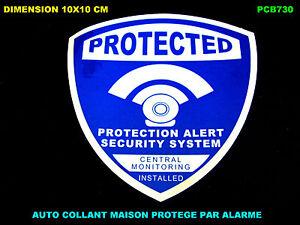 alarme maison camera protection video surveillance auto collant stickers ebay. Black Bedroom Furniture Sets. Home Design Ideas