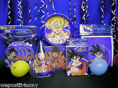 Dragonball Z Party Set 9 Dragon Ball Z Party Supplies With Dragon Favors