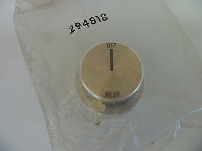 Vintage Stove Parts Roper 294818 Kenmore Gas Range Burner Knob