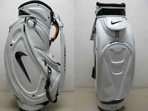 BRAND-NEW-NIKE-GOLF-STAFF-CART-BAG-JAPAN-TOUR-MODEL-WHITE-BLACK-W-RAINHOOD