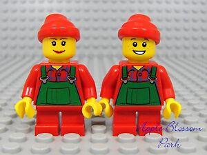 NEW-Lego-CHRISTMAS-BOY-GIRL-ELVES-Santa-Helper-Elf-Minifigs-w-Red-Short-Legs