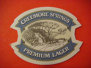Beer-Coaster-Mat-Small-Batch-CREEMORE-SPRINGS-Premium-Lager-Ontario-Canada