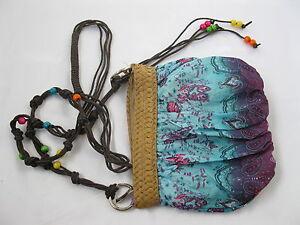 1X New Hippie Style Sling/Shoulder Bag 18x20cm - Blue & Purple