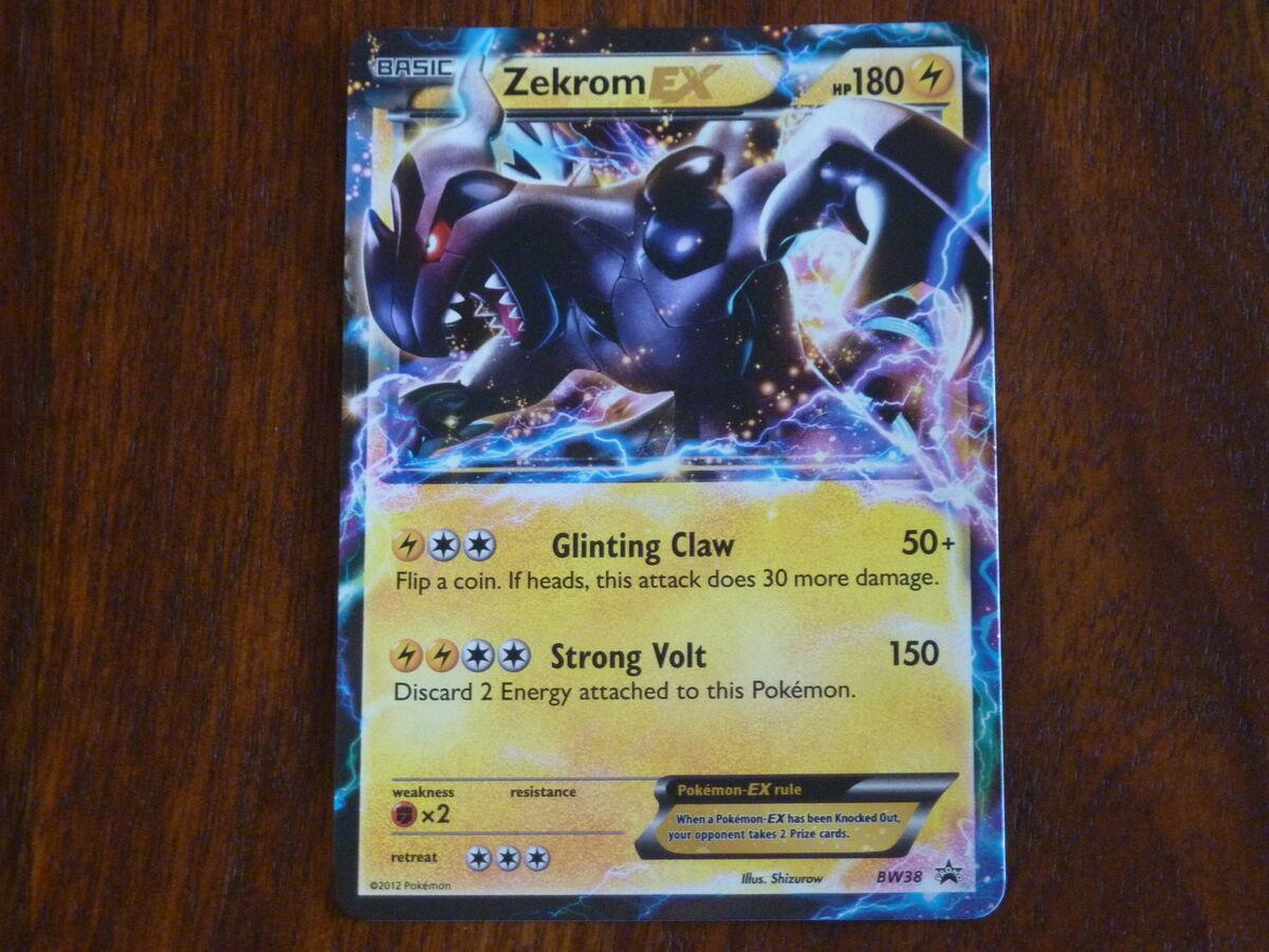 Carte pokemon ultra rare zekrom ex holo vo 180pv attaque 150 - Carte pokemon ex rare ...
