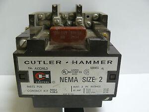 cutler hammer a10dnl0 nema size 2 starter 3ph 45 amp 250v