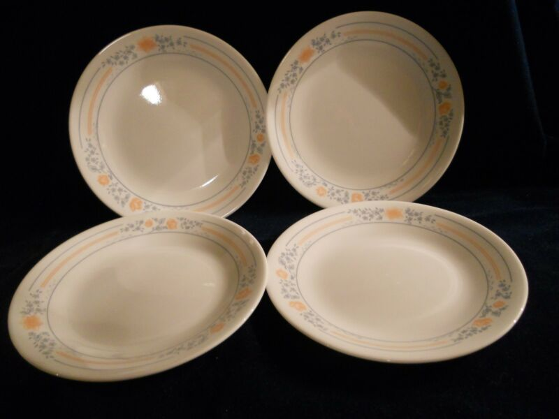 "4 Corelle ""Apricot Gold"" 6 3/4"" Bread & Butter Plates"