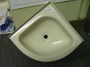 Plastic Bathroom Sink : Caravan Bathroom Beige Plastic Corner Vanity Sink 285mm x 285mm SN7 ...