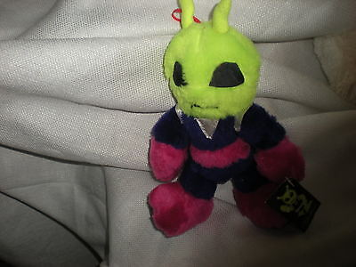 Nanco Martian Alien Monster Neon Striped Plush 9 1997 Cute Soft
