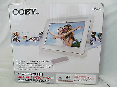 Brand Coby Dp-769 7 Digital Picture Frame Widescreen Mp3 Playback Lcd