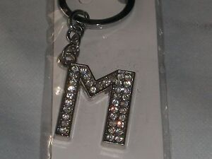 Initial Letter Key Ring.Bling Sparkle Diamante