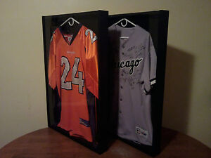 Display Case Frame Hanger Signed Football Baseball Basketball Jersey A