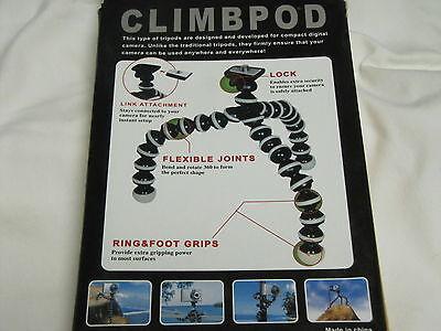 Flexible Climbpod Mini Tripod Webcam Small Digital Camera Stand Black & Gray